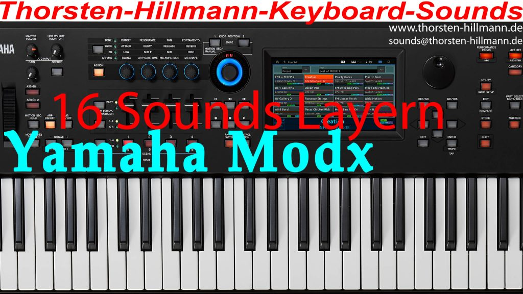 Yamaha Modx mehr als 8 Sounds